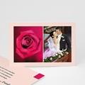 Rose passion - Faire-part, carte remerciements - 1