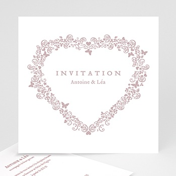 Cartons d'Invitation Personnalisés - Romantico - 1