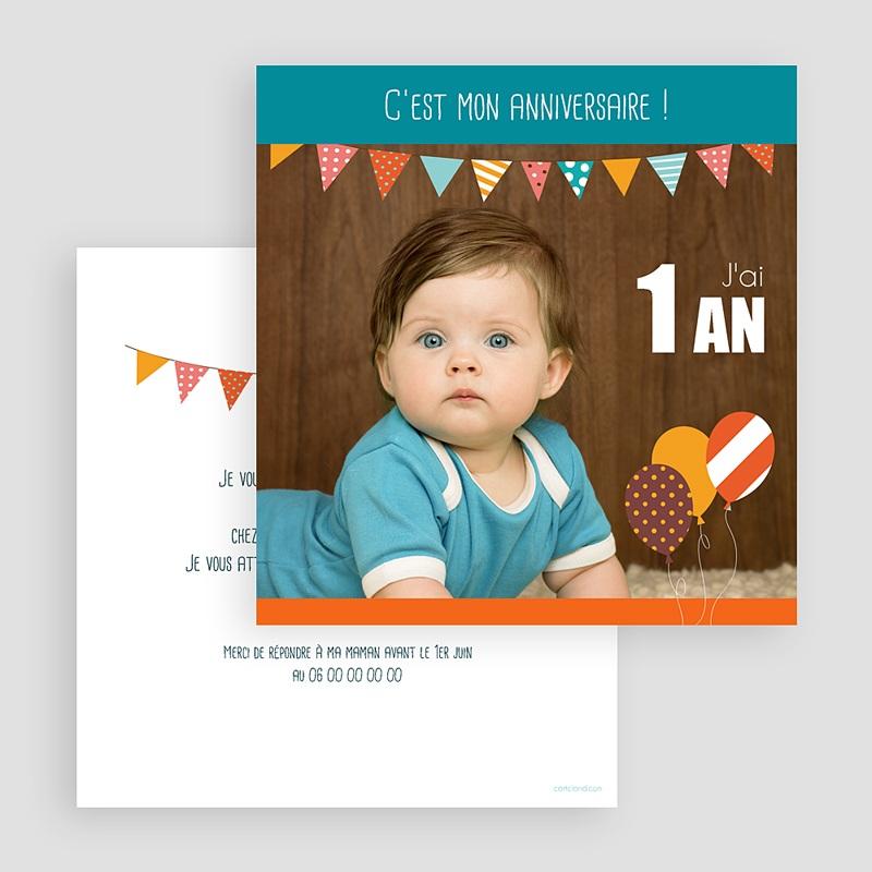 Invitation Anniversaire Enfant Garçon - La fête | Carteland.com