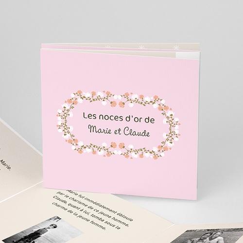 Invitations Anniversaire Mariage - Une belle histoire 17322