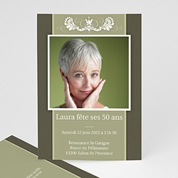 Invitation Anniversaire Adulte - Simplement belle - 3