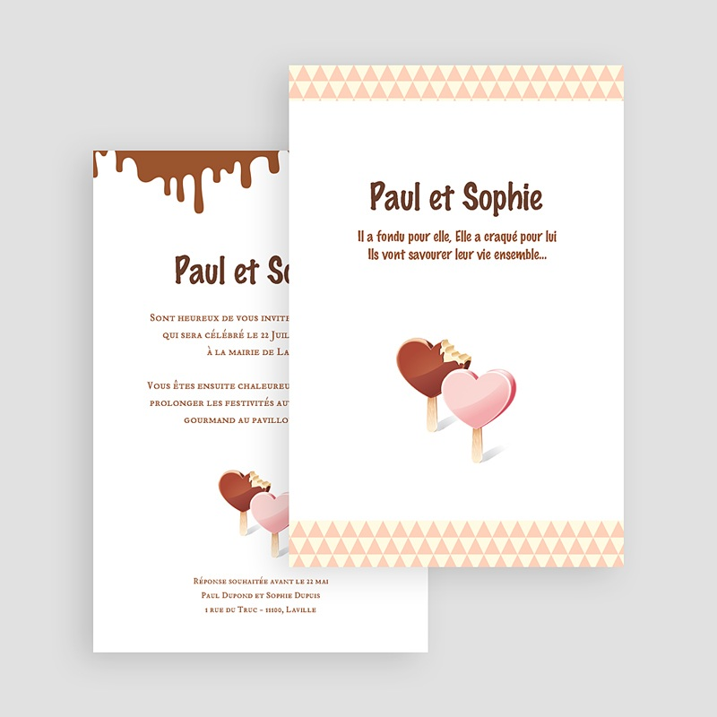 faire part mariage personnaliss mariage gourmand 17761 thumb - Texte Faire Part Mariage Gourmandise