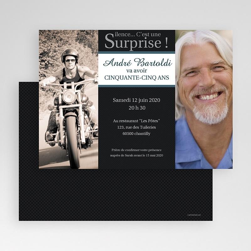 Invitation Anniversaire Adulte - Super Surprise | Carteland.com