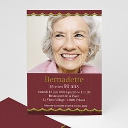 Invitation Anniversaire Adulte - Or et vieux rose - 3