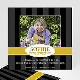 Invitation Anniversaire Adulte - Ebène doré - 3