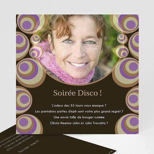 Invitation Anniversaire Adulte - Bulles Disco 1932