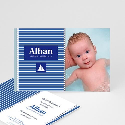 Faire-Part Naissance Garçon - Alban, le Petit Marin 2052