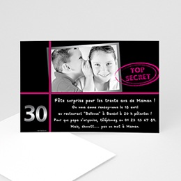 Invitations Anniversaire Adulte - Anniversaire Top secret - 3