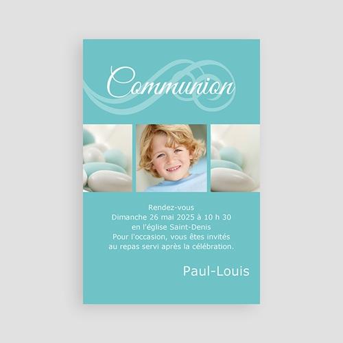 Faire-part Communion Garçon - Communion calligraphiée 2116