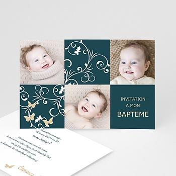 Faire-part Baptême Fille - Sacrement et photos - 3