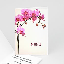 Menus Mariage Personnaliss - Faire-part Mariage  - L&#039;orchid&eacute;e - 3