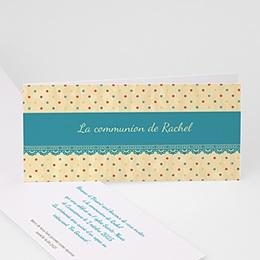 Faire-part Communion Fille - Dentelle - 4