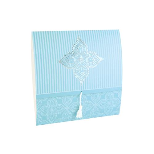 Faire Part Oriental - Dora - Bleu 21622