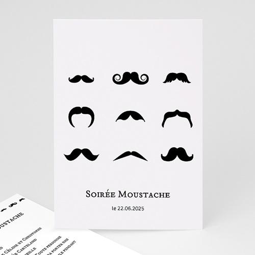 Invitation Anniversaire Adulte - Soirée moustache 21746