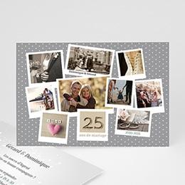 Invitations Anniversaire Mariage - pêle-mêle retrospectif - 4