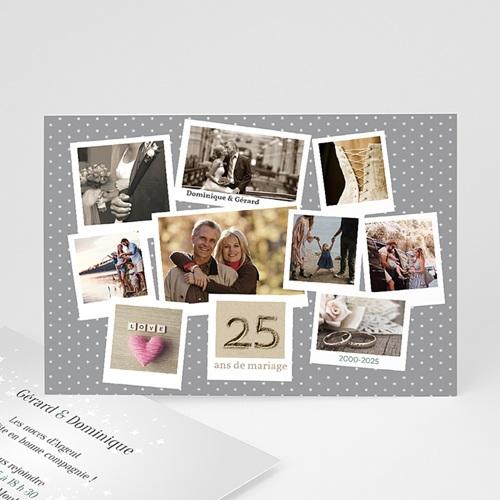 Invitations Anniversaire Mariage - pêle-mêle retrospectif 21782