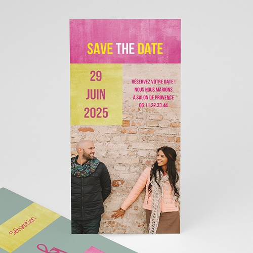 Save-The-Date - Mariés Fluo 21793