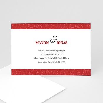 Cartons d'Invitation Personnalisés - Multi-photos et coeurs rouges - 3