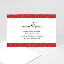 Carton Invitation Personnalisé - Multi-photos et coeurs rouges - 3