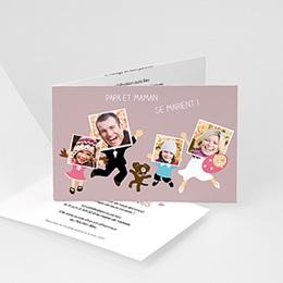 Faire-Part Mariage Personnalisés - Happy Family - 3