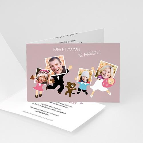 Faire-Part Mariage Personnalisés - Famille heureuse 2192