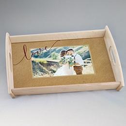 Plateaux personnalisés avec photos - Tapis de fleurs rouges - 1