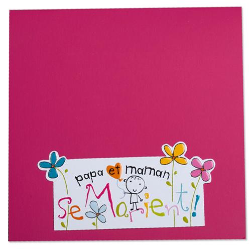 Faire-Part Mariage Traditionnel - Pop-up Papa et Maman 22209