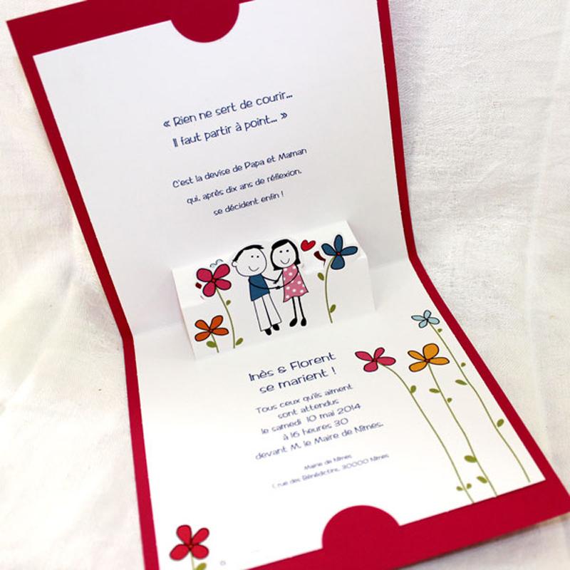 faire part mariage traditionnel pop up papa et maman 22210 thumb - Faire Part Mariage Papa Et Maman Se Marient