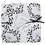 Faire-Part Mariage Traditionnel - Parterre de fleurs noire 22215 thumb
