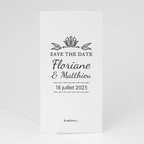 Save-The-Date - Ornement Vintage 22267