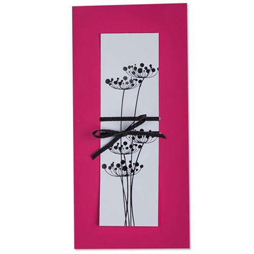 Faire-Part Mariage Traditionnel - Fleurs zen 22280