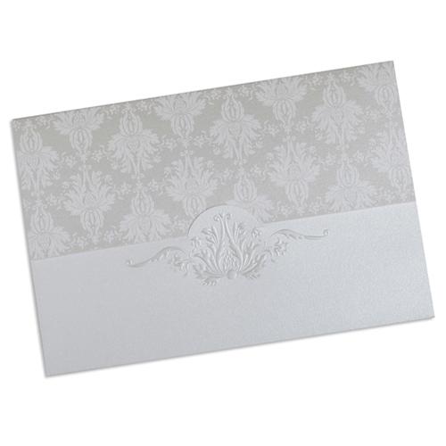 Faire-Part Mariage Traditionnel - Faire-part ivoire et gris 22334