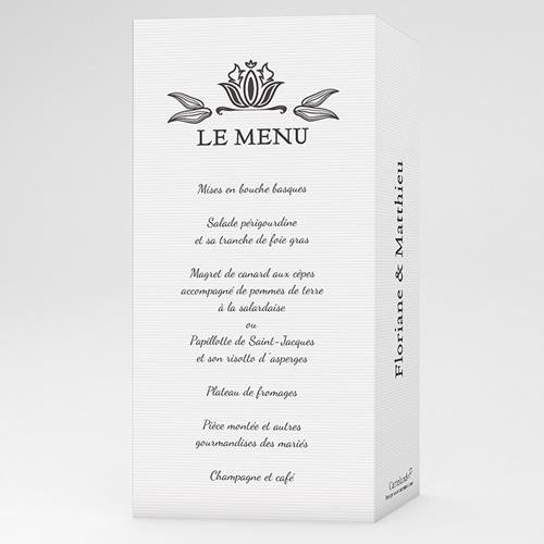 menu mariage personnalis ornement vintage. Black Bedroom Furniture Sets. Home Design Ideas