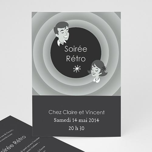 Invitation Anniversaire Adulte - Soirée Rétro 22501