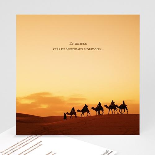 Cartes de Voeux Professionnels - Caravane de dromadaires 22850
