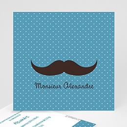 Faire-Part Naissance Garçon - Monsieur Moustache 23031