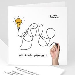 Cartes de Voeux Professionnels - Une année lumineuse - 1