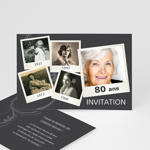 Invitation Anniversaire Adulte - Retrospective 2330