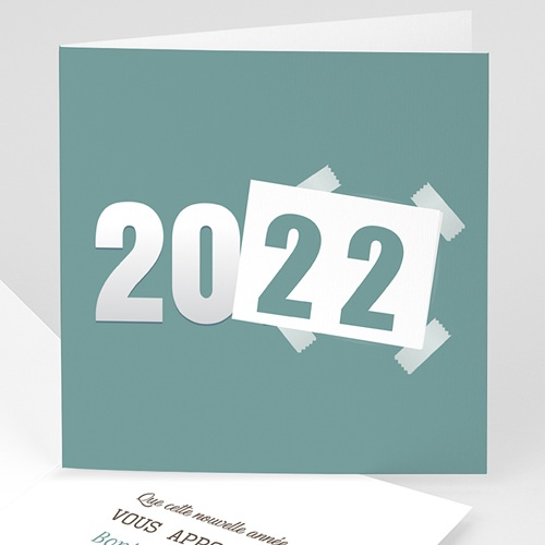 Cartes de Voeux Professionnels - Année scotchée 23424