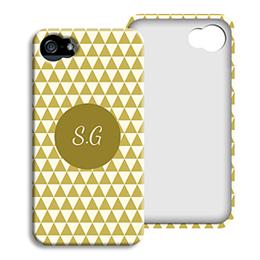 Coque Iphone 4/4s personnalisé - Chevrons d' automne - 1