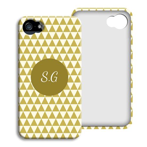 Coque Iphone 4/4s personnalisé - Chevrons d'automne 23813