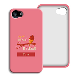 Coque Iphone 4/4s personnalisé - Homemade Strawberry Ice Cream - 1