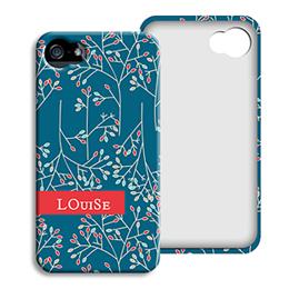 Coque Iphone 4/4s personnalisé - Fleurs de Noël - 1
