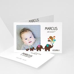 Faire-Part Naissance Garçon - Marcus fait son cirque - 3
