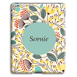 Coque iPad 2 - Fleurs jaunes - 1