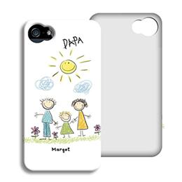 Coque Iphone 4/4s personnalisé - Dessin d'enfant - 1