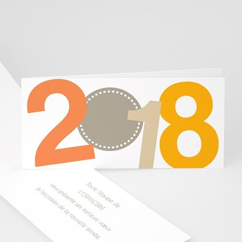 Cartes de Voeux Professionnels - Voeux Orange 24055