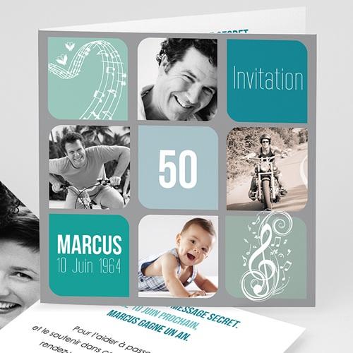 Invitation Anniversaire Adulte - Musique ! Multi-photos 24091