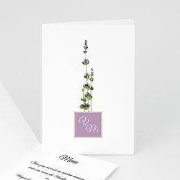 Menu Mariage Personnalisé - Bouquet de lavande - Mariage en Provence - 3