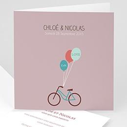 Faire-Part Mariage Personnalisés - A bicyclette - 1